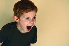 Страшить мальчик стоковые фото