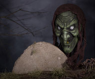 страшная ведьма Стоковые Фото