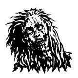 Страшная голова девушки зомби также вектор иллюстрации притяжки corel Стоковое Изображение RF