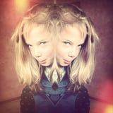 Страшная девушка стоковое фото