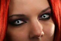 Страшная девушка вампира Стоковые Фото