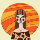 Страшная девушка зомби Стоковые Фотографии RF