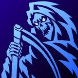 Страшная иллюстрация вектора мрачного жнеца Стоковые Фотографии RF