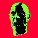 Страшная иллюстрация вектора стороны зомби Стоковые Изображения