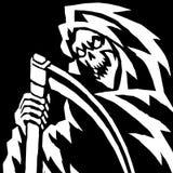 Страшная иллюстрация мрачного жнеца Стоковое Изображение RF