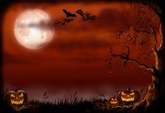 Страшная иллюстрация предпосылки хеллоуина Стоковые Фотографии RF