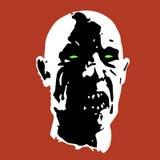 Страшная иллюстрация стороны зомби Стоковые Фотографии RF
