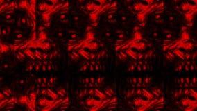 Страшная картина стороны зомби на черной предпосылке иллюстрация вектора