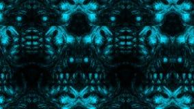 Страшная картина стороны зомби на черной предпосылке иллюстрация штока