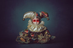 Страшная кукла с demonic глазами Стоковое Изображение