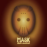 Страшная маска масленицы хоккея Высокая динамическая иллюстрация rangeVector Стоковая Фотография