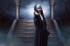 Страшная монашка дьявола Стоковая Фотография