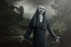 Страшная монашка дьявола Стоковые Изображения RF