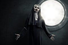 Страшная монашка дьявола Стоковое Изображение
