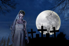 Страшная невеста зомби Стоковая Фотография RF