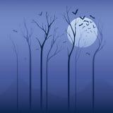 Страшная ноча иллюстрация штока