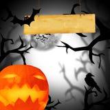 Страшная предпосылка Halloween Стоковое фото RF
