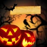 Страшная предпосылка Halloween Стоковые Изображения RF
