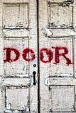 Страшная старая дверь Стоковая Фотография