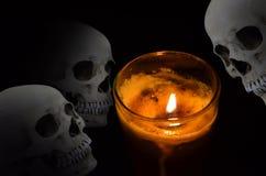 Страшная сторона в свете лампы Стоковые Фото