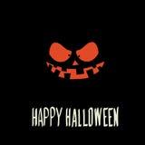 Страшная сторона тыквы хеллоуина Стоковые Фото