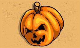 Страшная страшная тыква для текстуры хеллоуина легкой извлекает Стоковое Фото