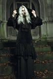 Страшная темная ведьма стоковое фото rf