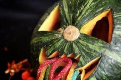 Страшная тыква хеллоуина фонарика Джека o Стоковые Изображения