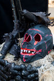 Страшная установка хеллоуина Стоковое Фото