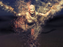 Страшное женское действие мумии Стоковые Фото