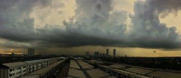 страшное небо стоковая фотография