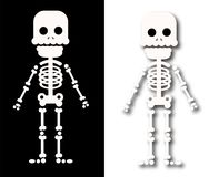 Страшное sceleton для характера хеллоуина детей иллюстрация вектора