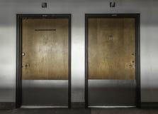 Страшные двери покинули больницу Стоковое Фото