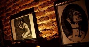 Страшные изображения в подвале старого замка видеоматериал