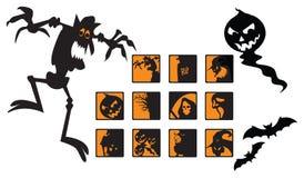 Страшные изображения Halloween иллюстрация штока