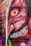 Страшные смотря граффити Стоковые Изображения RF