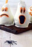 Страшные съестные украшения партии хеллоуина Стоковые Фото
