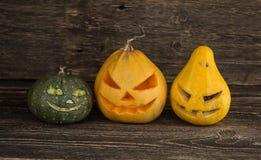 Страшные тыквы хеллоуина Стоковое Изображение RF