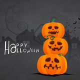 Страшные тыквы для торжества хеллоуина Стоковая Фотография