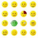 Страшные Smileys - кнопки Стоковые Изображения