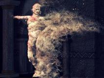 Страшный женский представлять мумии Стоковое фото RF