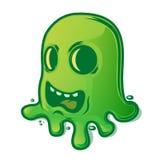 Страшный зеленый кусок металла изолированный на белой предпосылке halloween изолировал белизну символа Стоковые Фотографии RF