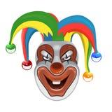 Страшный клоун изолированный на белой предпосылке Стоковые Изображения