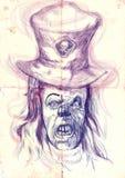 Страшный клоун Стоковые Фотографии RF