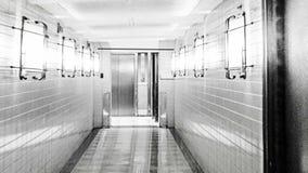 Страшный коридор больницы, абстрактная предпосылка видеоматериал
