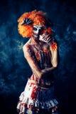 Страшный кровопролитный клоун Стоковое Изображение RF