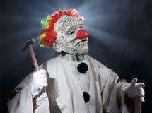 Страшный клоун изверга Стоковые Изображения RF