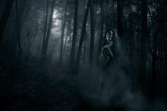 Страшный призрак в древесинах стоковые фото