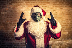 Страшный Санта Клаус Стоковое Изображение RF