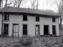 Страшный старый дом фермы Стоковые Фото